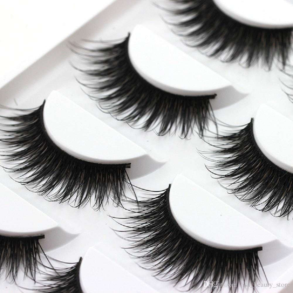 5Pairs/Set Thick False Eyelashes Messy Cross Thick Natural Fake Eye Lashes Professional Bigeye Makeup Tool Long False Eyelashes