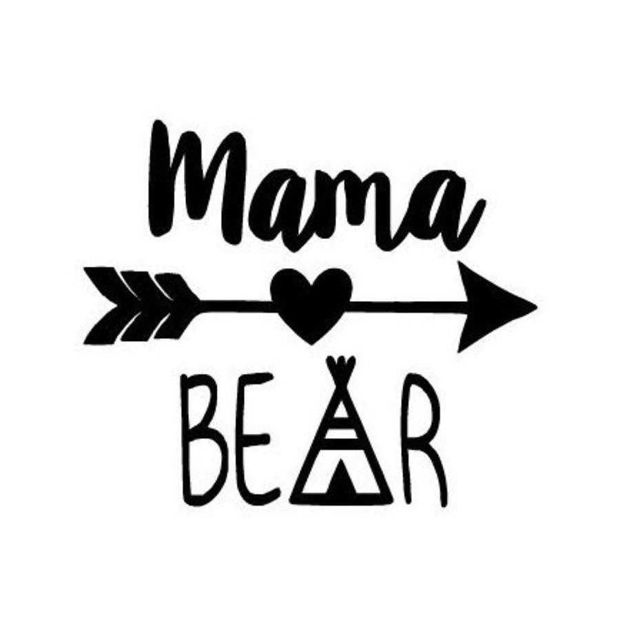 حار بيع ماما الدب مضحك سيارة ملصقا ل شاحنة نافذة الوفير السيارات suv الباب كاياك الفينيل صائق