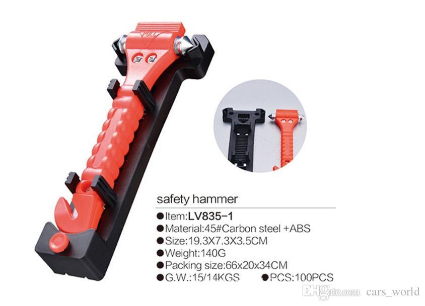 1 martillo de seguridad para coche herramienta de escape de emergencia con cortador de vidrio para ventana de coche y cintur/ón de seguridad