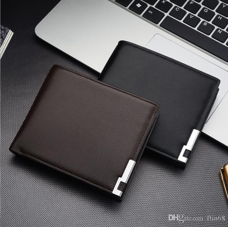 حار بيع أزياء الرجال محافظ تصميم قصيرة الذكور محفظة جيب محفظة بو الجلود المحفظة