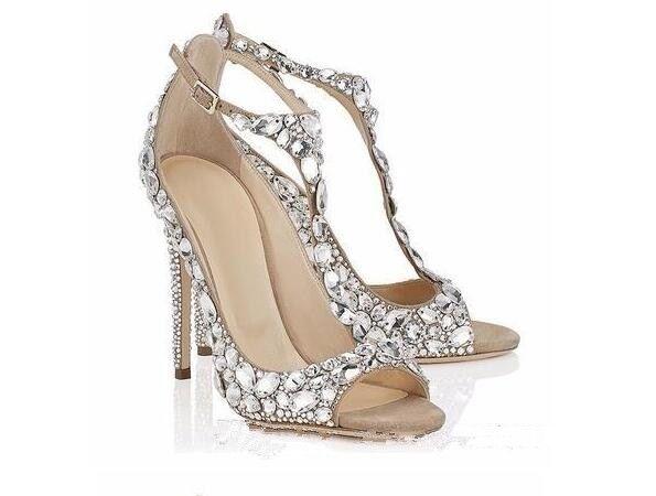 Scarpe Gioiello Da Sposa.Ricco E Magnifico Caratteristiche Eccezionali Qualita Sandali Con