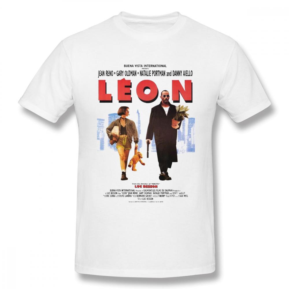 Elegante Leon The Professional Vintage Homme camiseta cuello redondo para hombre envío gratis más tamaño camiseta superior