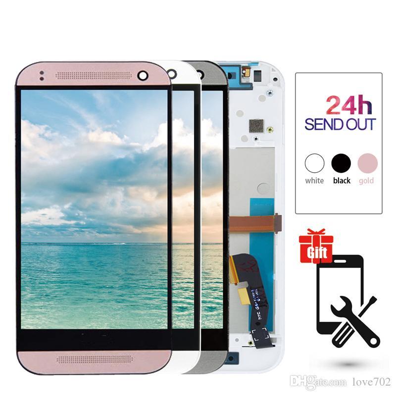 """100% Испытано 4.5 """"HTC One Mini 2 M8 Mini LCD сенсорный экран с рамкой HTC One Mini 2 M8 Digitizer Assembly"""