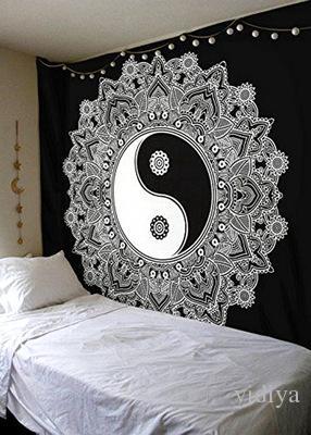 Tapicería de tela clásica en blanco y negro, tapicería multifunción 150 * 150 cm, mantel, manta de pared, manta de playa ponible