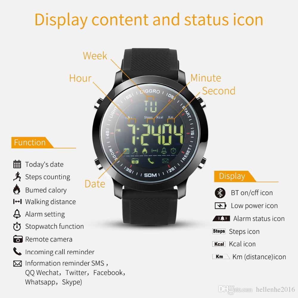 Reloj Recordatorio Smart IP68 Soporte Pasómetro Actividades Tracker Ultra-Long Deportes Natación En espera Mensaje Impermeable AgCSM