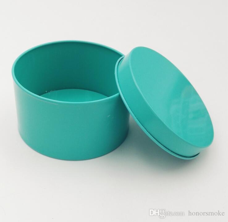 جولة الشعبية تين مربع إفراغ التخزين حالة المعادن منظم خبأ 5 ألوان 7.5CM OD على المجوهرات المال عملة حلوى زفاف مفاتيح U سماعات الرأس القرص