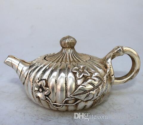 Antique bronze Qianlong mosaic antique teapot pot copper kettle retro Home Furnishing products
