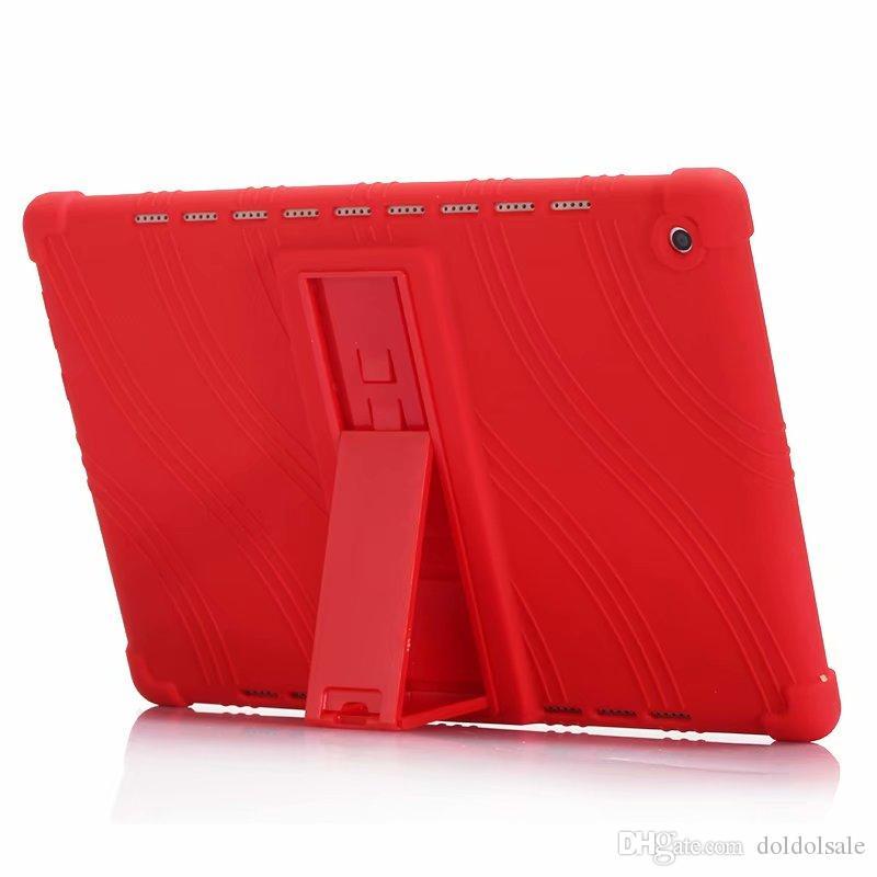 Housse en silicone souple avec support pour Huawei MediaPad M5 10.8 10 Pro CMR-AL09 CMR-W09 tablette + stylet