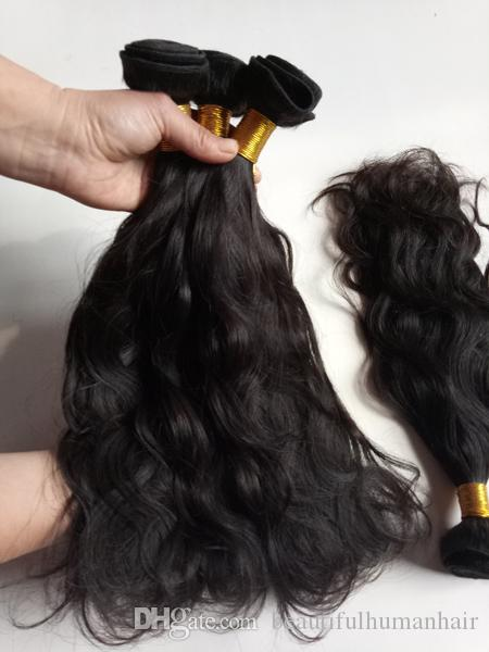 Full cuticle aligned European Brazilian virgin human Hair weft 8-22inch Natural Wave best quality Indian remy hair extensions long lifetime