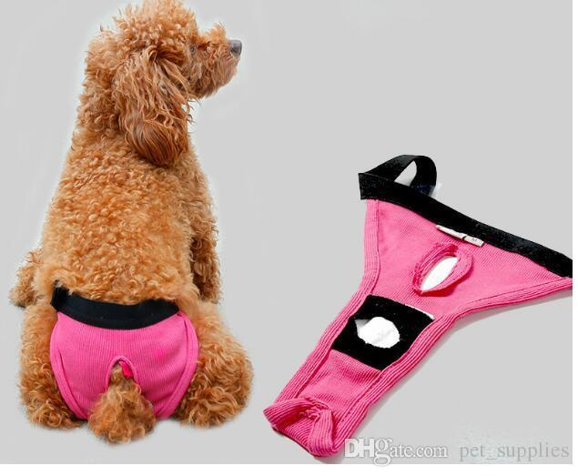 Female Dog Pants Sanitary Underwear Cute Hygienic Pant Short Cotton Pet Physiological Panties Briefs For Dogs pink,blue black color