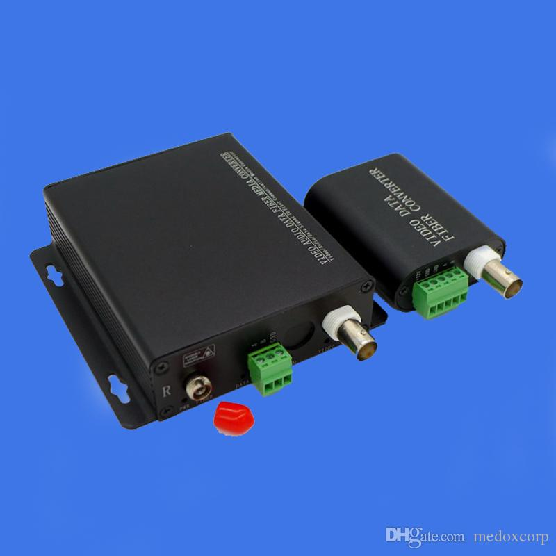 Transceiver for Video RS232, Mini Video+ RS232 to Optic Media Converter, Video+ RS232 over Fiber Transceiver; Video Fiber Optic Transceiver