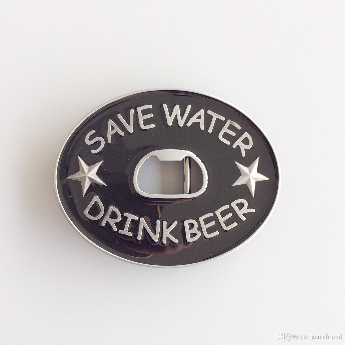 Nova economizar água beber cerveja abridor de garrafa fivela de cinto