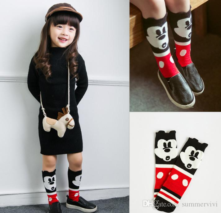 Newborn Kids Baby Girls Boys Cartoon Knee High Stockings Cotton Tube Socks 0~6T