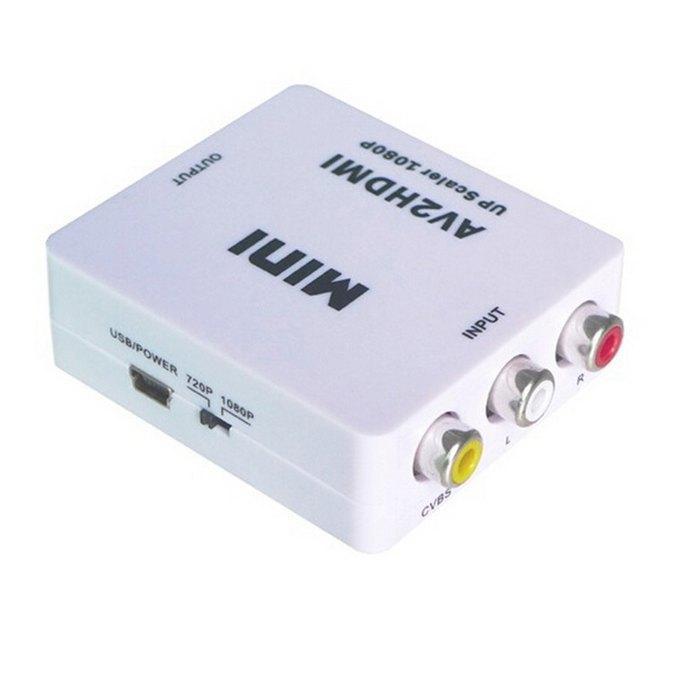 Il nuovo composito AV CVBS da 3RCA a HDMI Video Converter Mini Adapter 720p 1080p Upscaler HD-180
