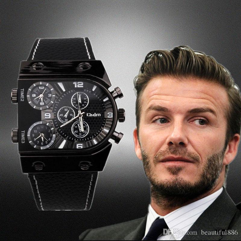 Homme Casual Multi En Sport Bracelet Cuir Zone Acheter Militaire Time Oulm Hommes Horloge Armée Quartz 9315 Montre Montres Pour ikZPXu