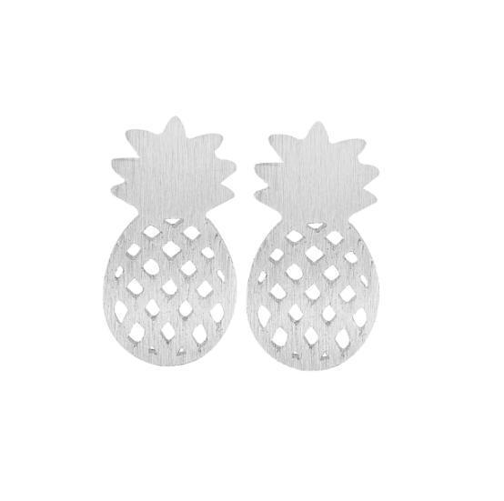 Elegant Cute Fruit Stud Earrings Brushed Pineapple Post Gift Jewelry Dainty