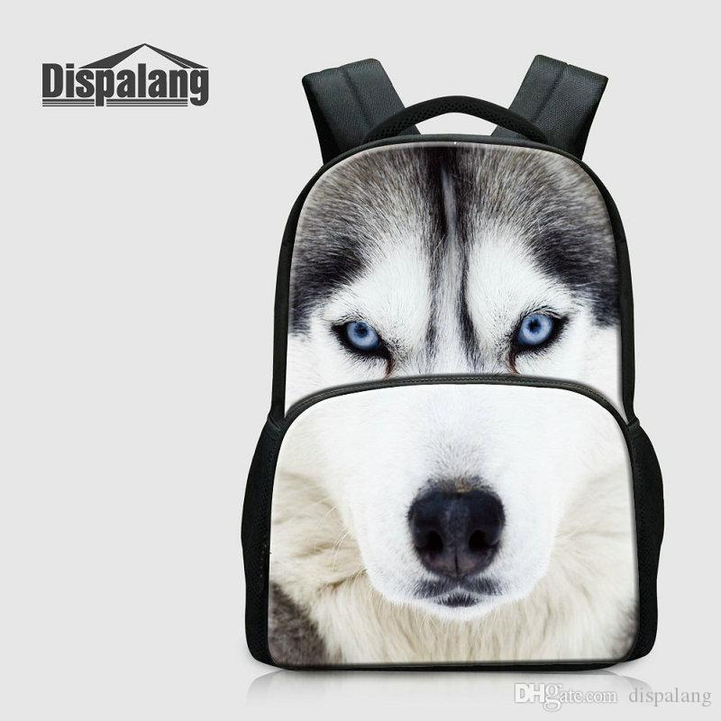 Large Capacity Computer Laptop Backpack For Men Wolf Lion Leopard Tiger Animals Printed School Bags For Students Canvas Rucksack Sac A Dos