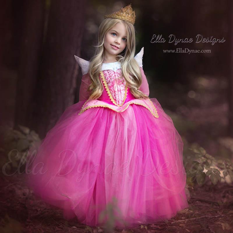 Compre 3 10 Años Princesa Bella Durmiente Niña Aurora Vestido De Niños Cosplay Disfraces De Halloween Vestirse Para Niños Fiesta De Tul A 3946 Del