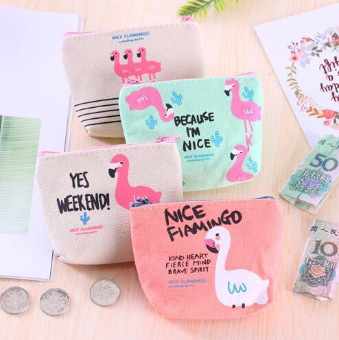Mini cadeaux pour les invités Souvenirs Porte-monnaie Flamingo Porte-monnaie Zip Portefeuille Cadeau de mariage pour les invités de retour à l'école