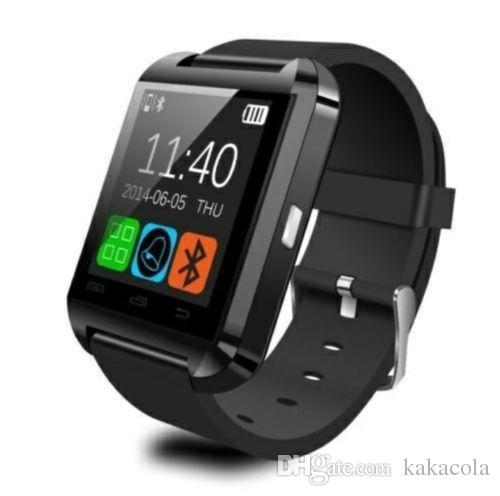 Bluetooth U8 SmartWatch Relojes de pulsera Pantalla táctil para i7 S8 Teléfono Android Monitor para dormir Reloj inteligente con paquete minorista Dropship a EE. UU.