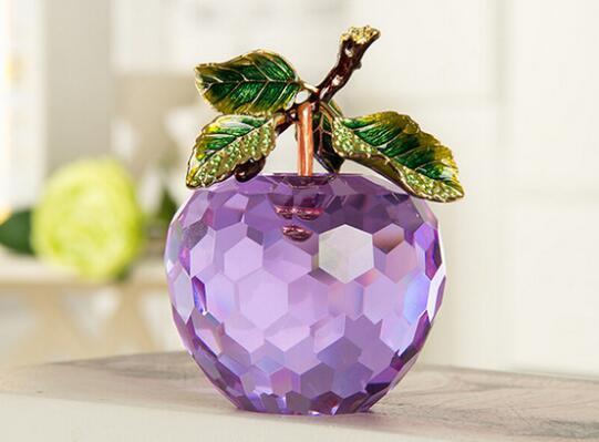 + Кристалл украшения яблоко творческий подарок на день рождения домашнего интерьера канун Рождества украшения