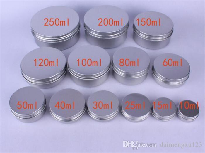 الألومنيوم الفارغة حاويات مستحضرات التجميل وعاء مرهم الشفة جرة القصدير لكريم مرهم كريم اليد مربع التعبئة والتغليف X076