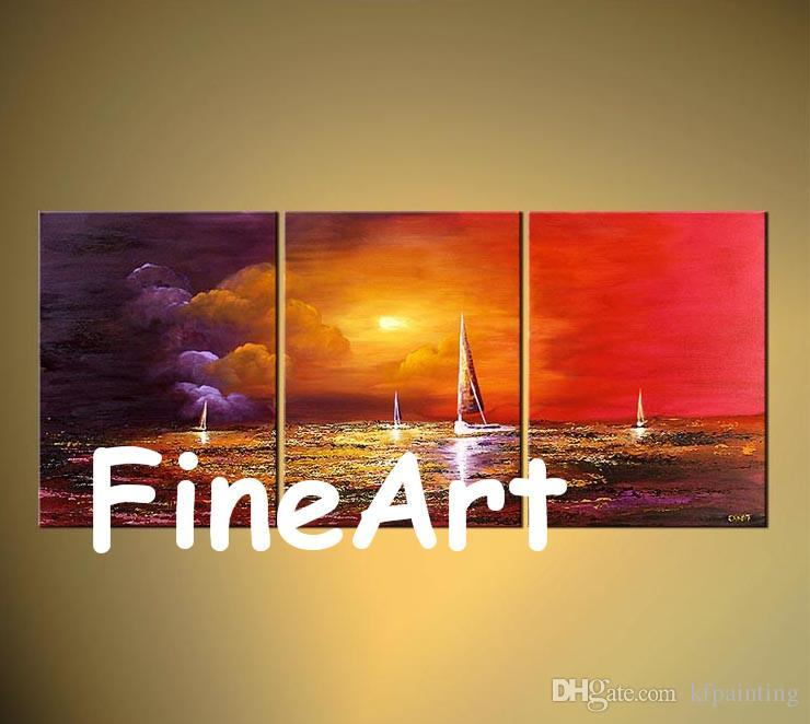 large canvas wall panel sail boat modern palette knife wall art paintings handmade good quality abstract art canvas beautiful artwork paint