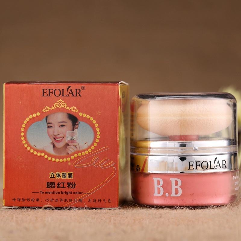 EFOLAR Mushroom BB Powder Blush Rouge Яркий Ослепительный Румяна Профессиональный Тонкий Розово-Оранжевый Макияж Румяна для Лица
