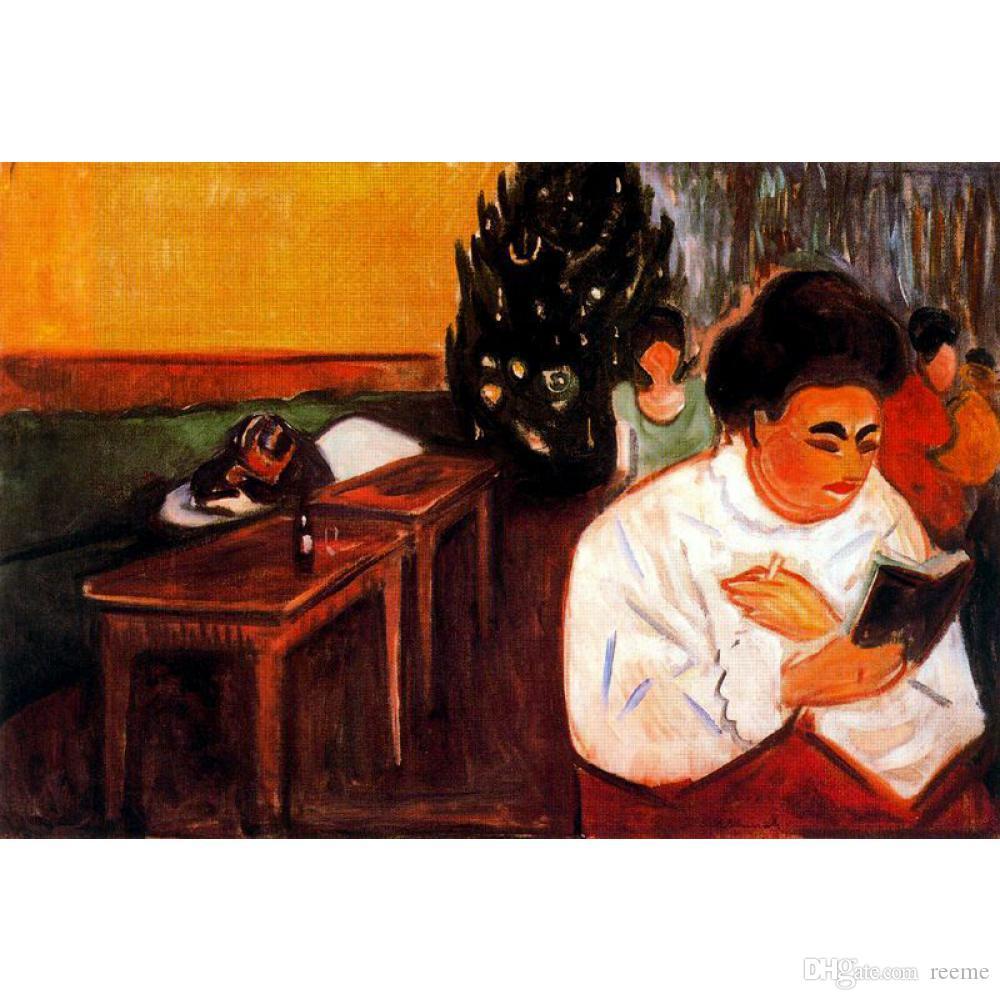 Handgemalte Ölbilder von Edvard Munch zum Verkauf Weihnachten im modernen Bordell für Wanddekor