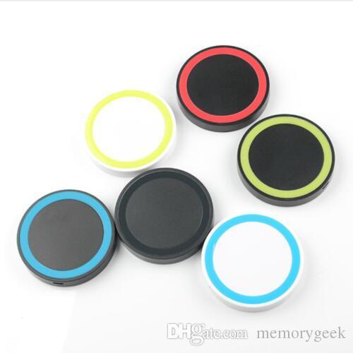 S6 Qi Q5 무선 충전기 휴대 전화 미니 충전 패드 Qi abled 장치에 대 한 삼성 갤럭시 S3 S4 S5 S6 참고 2 / 3 / 4 Nokia HTC LG Iphone 전화 MQ50