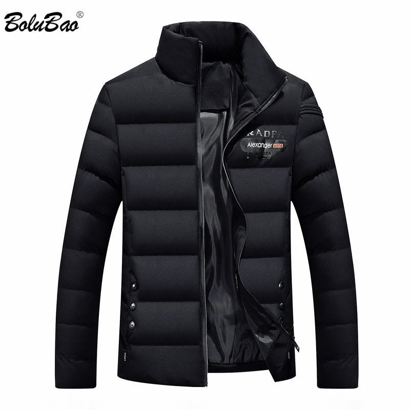 BOLUBAO 남성용 겨울 자켓 솔리드 컬러 겉옷 겨울 패션 패딩 코튼 코트 초경량 캐주얼 맨 파커 코트
