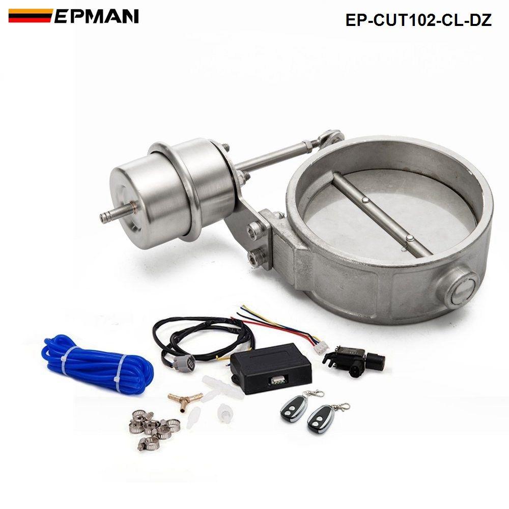 Neues H G 102mm Hochwertiges geschlossenes Vakuumabgasausschnittventil mit drahtloser Fernbedienung Set EP-CUT102-CL-DZ