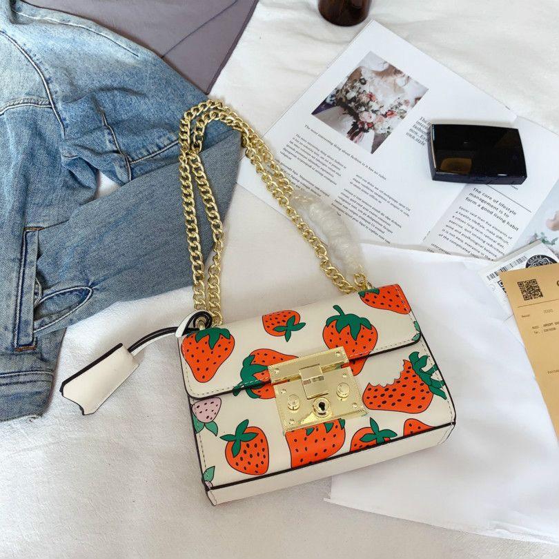 Дизайнер сумки на ремне Женщины Роскошные сумки Креста тела Клубника смазливая Мода / CFY2003051