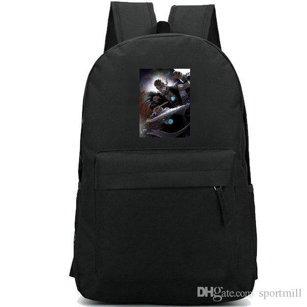 Nekron backpack Black Lantern Corps school bag Super hero fans print daypack Leisure schoolbag Outdoor rucksack Sport day pack