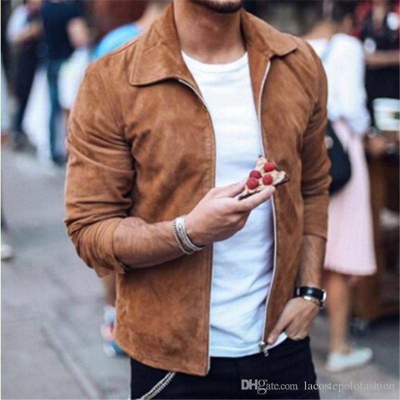 Desenhador Mens Jackets Moda Zipper Fly Men Jaqueta Curto Homme Casual Primavera e Outono Roupas De Cor Sólida