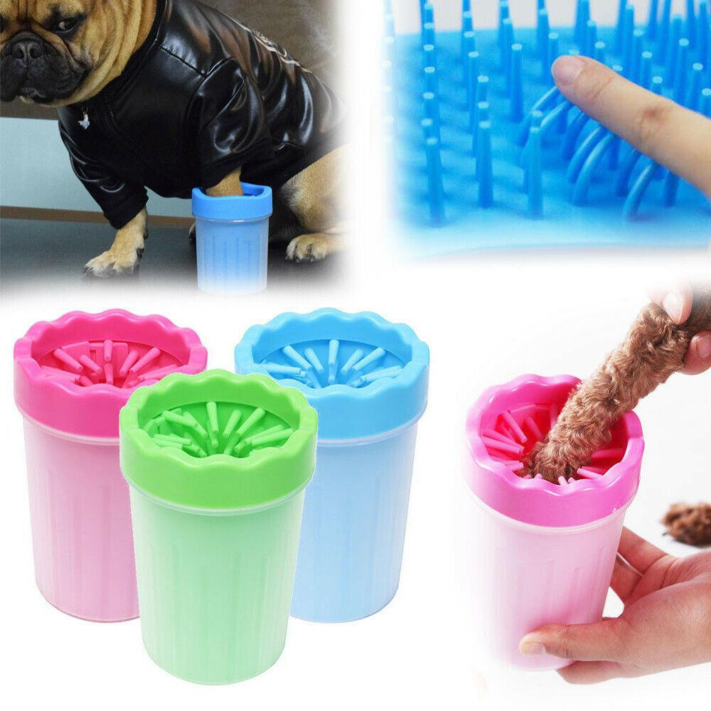 UK المحمولة لامعة العنبر الحيوانات الأليفة باو الغطاس الطين الأنظف الغسالة Mudbuster الكلب القطة الأليفة باو الأنظف