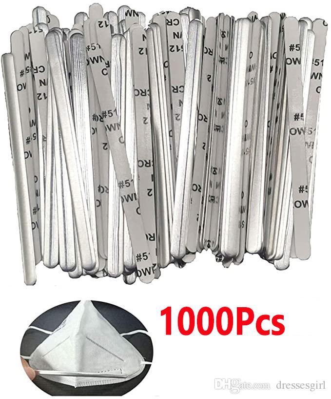US Lager! Aluminiumstreifen Nase Draht, Nasensteg, 90mm Metall Flach Nasen Clips Nasen-Brücke Bracket DIY Draht für Nähen Handwerk
