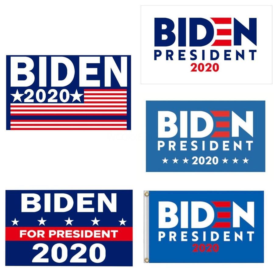 Bandiere Donald Biden Giardino 90 * 150cm Presidente elezioni generali Banner 2020 Biden Bandiera poliestere Pennant Banner Bandiere decorazioni del giardino M5 # 372