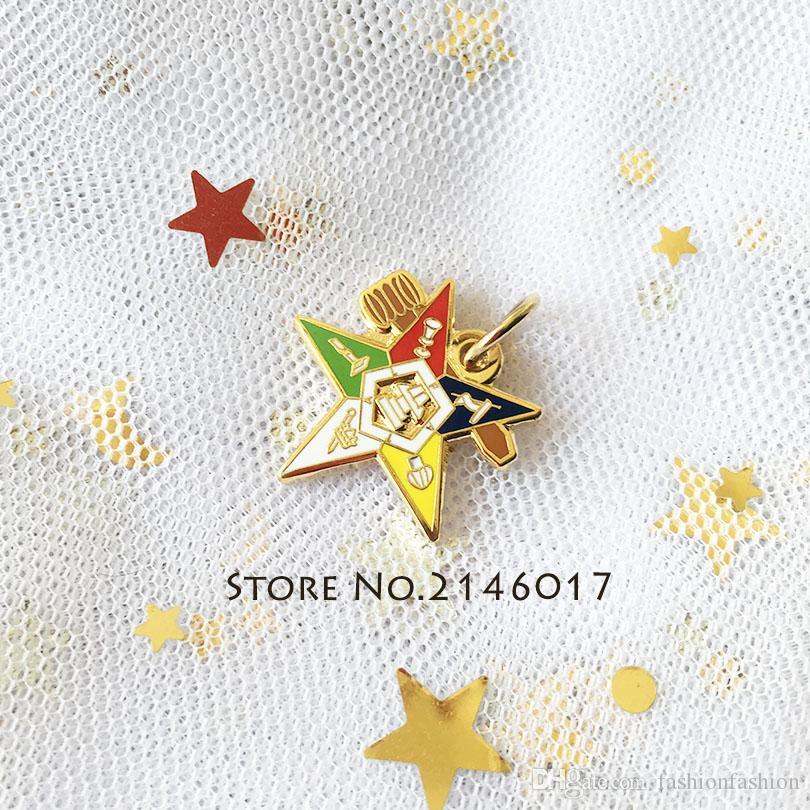 Colorful Order Eastern Star Masonic Necktie Freemason OES Organization NEW!