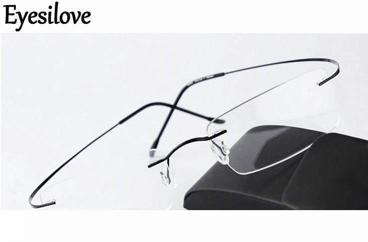 Силуэт ультра-легкий оптический каркас без оправы мужчины женщины титановые очки оправа очки черный серебристый серый золотой идут с оригинальным корпусом