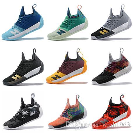 2019 Hot Sale James Harden 2 zapatillas de baloncesto Harden 2 Gold / Championship MVP Finals zapatillas deportivas de entrenamiento zapatillas deportivas Tamaño 40-46