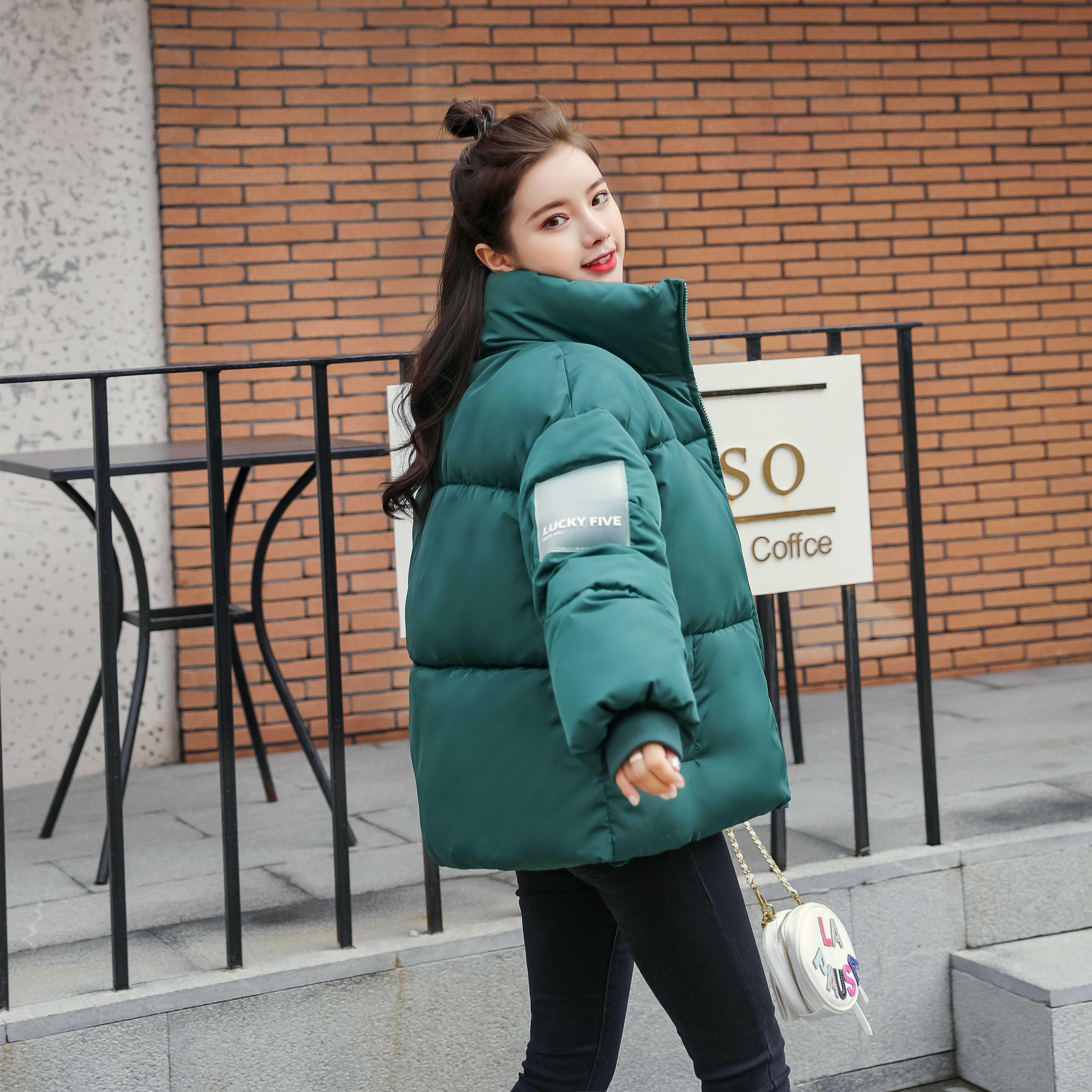 Abrigos Mujer Invierno 2019 jaqueta de inverno curto mulheres algodão acolchoado jaqueta feminina parka casaco womens womens baiacada tamanho grande V191114