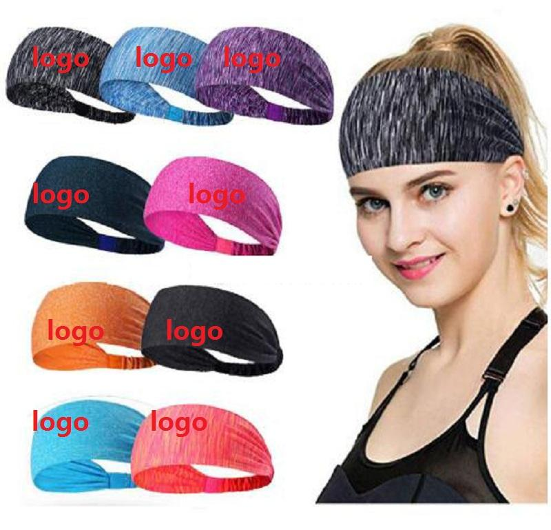 Custom Logo Sport Designer Headband Yoga Headband Quick Drying Elastic Headbands Working Out Gym Hair Bands for Sports Fitness DHL Shipping