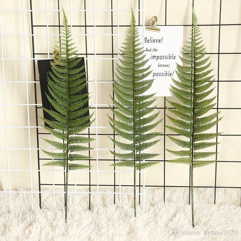 hojas de Plantas decoración Simulación hoja de helecho flor de hierba artificial verde persa para bricolaje decoración de la boda de Navidad