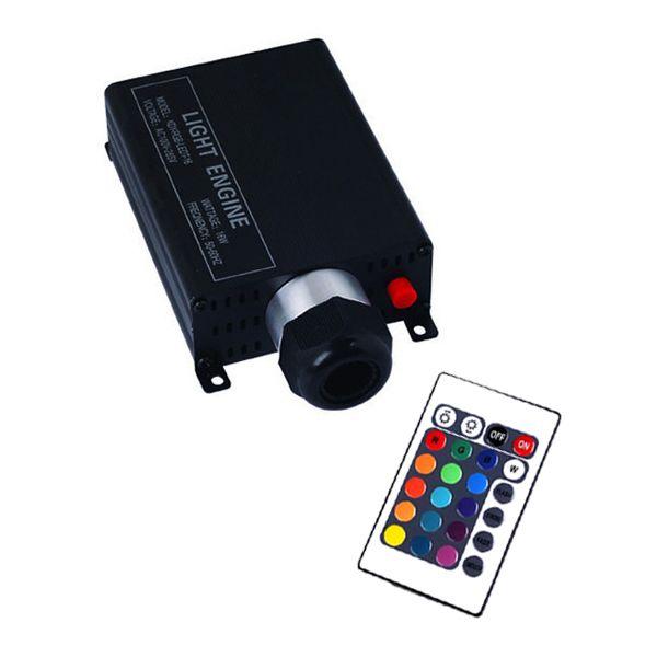 16W fiber optic light led engine RF remote wireless AC100~256V input Fiber Engine 16W LED Dimmer for PMMA fiber cable lights