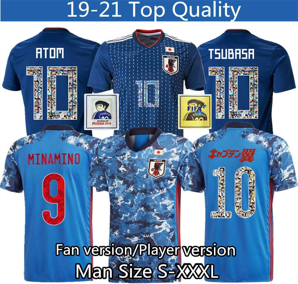 Japan soccer jersey cartoon number fonts 10 player version Jersey 18 19 Thailand top quality 2020 2021 soccer tracksuit S XXXL