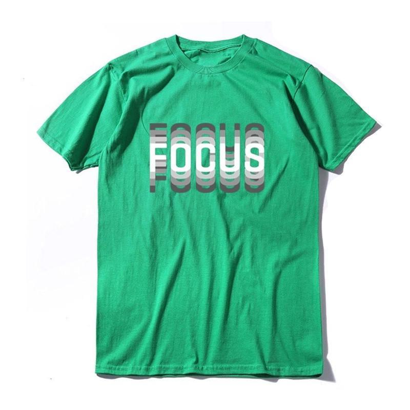 Summer Loose Focus Letter Print Men T Shirt Casual Loose O -Neck Men Tshirt Short Sleeve T -Shirt Male Tee Shirts Size XS-2XL