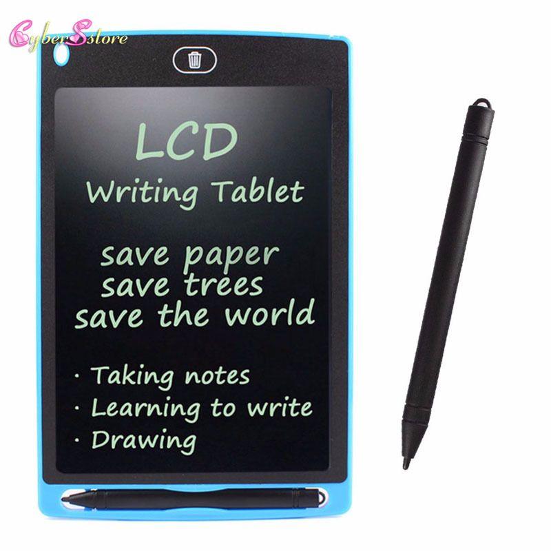 """LCD Yazma Çizim Stylus Tablet ile 8.5 """"Elektronik Yazma Tablet Çocuklar için Dijital Çizim Tahtasında Ped Ofis perakende paketi"""