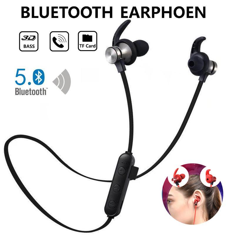 Спортивные Bluetooth наушники беспроводные наушники Bluetooth стерео гарнитура 4,2 Поддержка TF карт MP3 с микрофоном для телефона