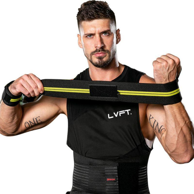 1PC Gym Power Training Bracers Wrister Sports Weightlifting Wrist Protector Pressure Cuff Wrist-band Men Women gs HS